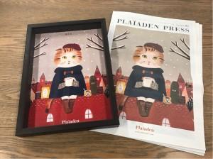 「PLAIADEN PRESS」vol.5と表紙のイラスト原画