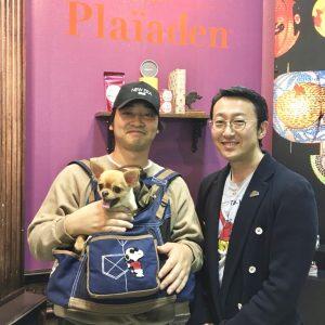 プレイアーデン代表の中村とジャングルポケットの斉藤慎二さん
