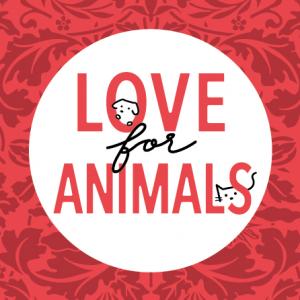 「LOVE for ANIMALS」四角いロゴマーク