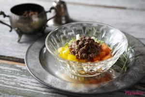 プレイアーデン犬用アレンジレシピ「ジビエと彩り野菜炒め」