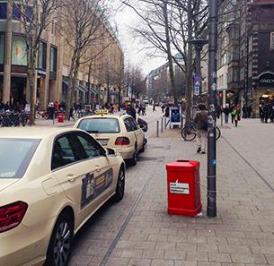 冬のドイツのきれいな街並み